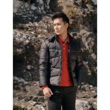 Áo jacket nam 3 lớp màu đen DGC - WAJK1902M