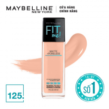 Kem nền mịn lì Maybelline Fit Me Matte + Poreless Foundation Pump 125 30ml