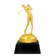 Tượng nữ đánh Golf mạ vàng - GOLFN02