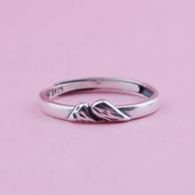 Nhẫn bạc nam nữ Núi Free Size - Ngọc Quý Gemstones
