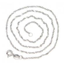 Dây chuyền bạc dạng xoắn (trắng) - Ngọc Quý Gemstones