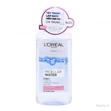 Nước tẩy trang dưỡng ẩm 3 In 1 LOreal Paris Micellar Water 95ml