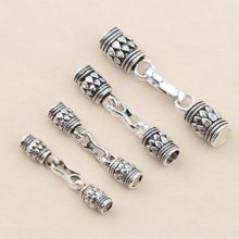 Khóa bạc cho vòng tay hoặc dây chuyền handmade (bạc thái) - Ngọc Quý Gemstones