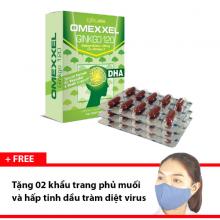 Viên uống hoạt huyết dưỡng não Omexxel Ginkgo 120 (30 viên) + Tặng 2 khẩu trang hấp tinh dầu tràm