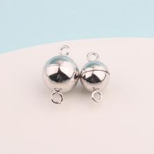 Charm bạc nam châm bạc tròn treo 8mm - Ngọc Quý Gemstones