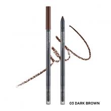 Chì kẻ chân mày The Face Shop browlasting waterproof eyebrow pencil 03 dark brown