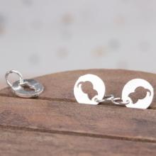 Charm bạc hình mèo treo - Ngọc Quý Gemstones