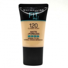 Kem nền mịn lì tự nhiên Maybelline Fit Me Matte Poreless Foundation Tube 120 Classic Ivory 18ml