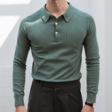 Áo polo trơn màu xanh lục