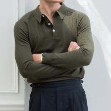Áo polo trơn màu xanh rêu