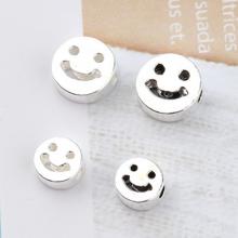 Charm bạc hình mặt cười xỏ ngang (bạc thái) 6mm - Ngọc Quý Gemstones