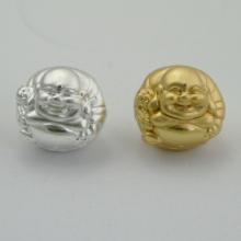 Charm bạc phật di lặc xỏ ngang - Ngọc Quý Gemstones