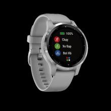 Đồng hồ thông minh Garmin Vivoactive 4S, GPS, Wi-Fi, Powder Gray-Silver, SEA