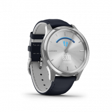 Đồng hồ thông minh Garmin Vivomove Luxe, Navy Leather w-Silver