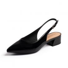 Giày nữ, giày cao gót thời trang Erosska mũi nhọn đế vuông da bóng kiểu dáng basic cao 4 cm EL012 (màu đen)