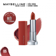 Son lì mịn môi tông đất Maybelline Colorsensation City Heat 05 East Village Rose 3.9g