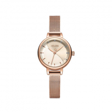 Đồng hồ nữ dây kim loại chính hãng Julius Hàn Quốc JA-1241A Đồng