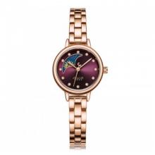 Đồng hồ nữ dây kim loại chính hãng Julius Hàn Quốc JA-1157D (Tím)