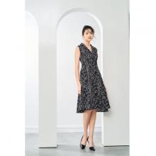 Đầm lụa hoa đen HeraDG - SDP20027