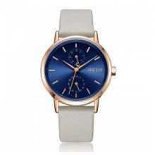 Đồng hồ nữ dây da chính hãng Julius Hàn Quốc JA-1159D Kem