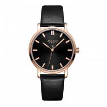 Đồng hồ nữ dây da chính hãng Julius Hàn Quốc JA-1200LD Đen.