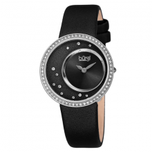 Đồng hồ thời trang nữ Burgi BUR271SSB mặt số sunray độc đáo dây da 33mm
