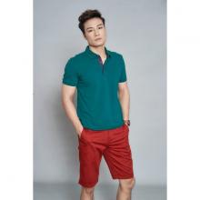 Áo phông nam ngắn tay màu xanh rêu DGC - SAP1911M