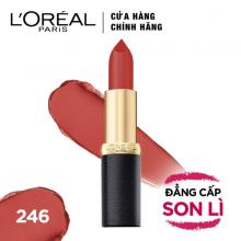 Son lì mịn môi Loreal 246 Betty Rouge màu cam 3.7g