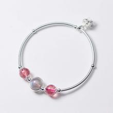 Vòng tay bạc đá thiên nhiên phối charm vương miệng - Ngọc Quý Gemstones