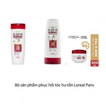 Bộ sản phẩm phục hồi tóc hư tổn Loreal Paris