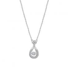 Dây chuyền Dancing Pear Jadmire bạc 925 cao cấp mạ Platinum đính đá Swarovski® trắng