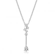 Dây chuyền Glamour Drop Jadmire bạc 925 cao cấp mạ Platinum đính đá Swarovski® trắng