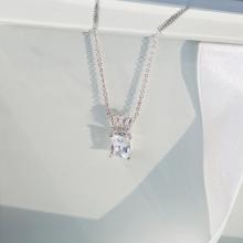 Dây chuyền Fierce Jadmire bạc 925 cao cấp mạ Platinum đính đá Swarovski® trắng