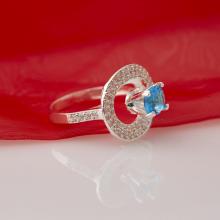 Nhẫn bạc đính đá Ross - Opal - RT5-07