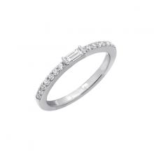 Nhẫn nữ  Simple  Half Eternity J'admire bạc 925 cao cấp mạ Platinum đính đá Swarovski® trắng