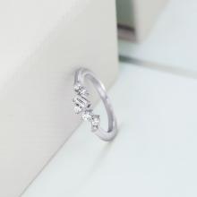 Nhẫn nữ   Elegance J'admire bạc 925 cao cấp mạ Platinum đính đá Swarovski® trắng