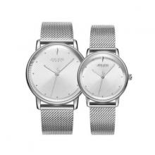 Đồng hồ cặp JA-1238A julius hàn quốc dây thép (bạc)