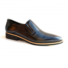 Giày tây nam giày lười da bò cao cấp Geleli