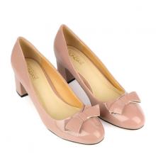 Giày bít gót vuông đính nơ SUNDAY CG52 - Màu ruốc