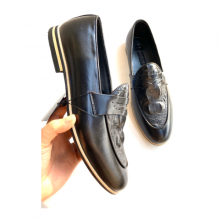 Giày tây da bò dập vân nổi - Chính hãng Geleli