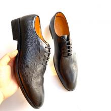 Giày nam giày tây buộc dây da thật Geleli