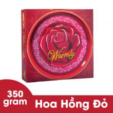 Bánh Warmly Hoa hồng đỏ hộp thiếc 350 gram Bibica