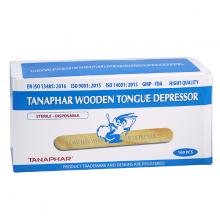 Que đè lưỡi gỗ  Tanaphar hộp 100 que - Đã tiệt trùng và an toàn tiện dụng