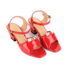 Giày sandal gót vuông quai phối hạt SUNDAY DV61 - Màu đỏ