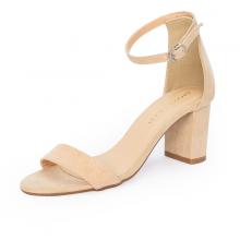 Giày nữ, giày cao gót block heel Erosska da lộn đế vuông kiểu dáng basic - EM006 (nu)