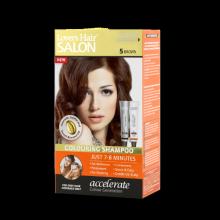 Dầu gội nhuộm tóc Lover's Hair Salon 5 Brown (Nâu Tự Nhiên)
