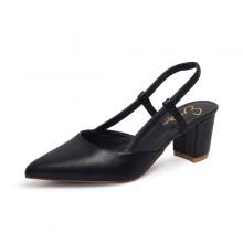 Giày nữ, giày cao gót kitten heel erosska đế vuông cao 5cm phối dây thời trang - EH021 (BA)