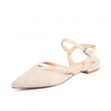 Giày nữ, giày cao gót slingback erosska mũi nhọn cao 2cm phối dây thời trang kiểu dáng basic - EL008 (NU)