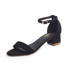 Giày nữ, giày cao gót đế vuông Erosska da lộn bít gót dây mảnh EB001 (BA)