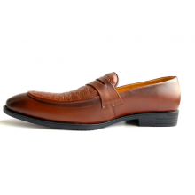 Giày tây nam da thật - Giày lười nam Geleli